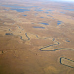 Alaskan River Winding - Aerial View